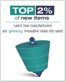 The top two percent of new items launched in 2015