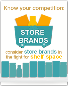 Consider store brands in the fight for shelf space