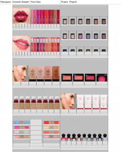 custom cosmetic planogram