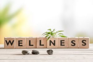 Wellness spelled out