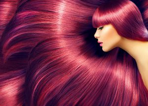 woman with reddish hair
