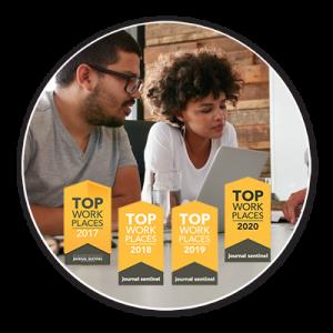 Top workplace logos 2017-2020