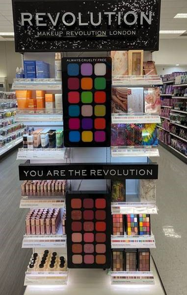 Revolution Beauty creates aesthetically appealing shopping experiences