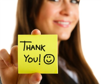 "Resolution: Say ""thank you"" to show appreciation for your customers' business"
